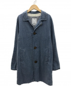 VISVIM(ビズビム)の古着「MIES COAT ミースコート」|インディゴチェック