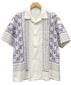 flagstuff(フラグスタフ)の古着「21SS BANDANA S/S SHIRTSバンダナシャツ」|ホワイト