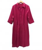 ADORE(アドーア)の古着「シアーボイルワンピース」|ピンク