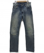 LEVI'S VINTAGE CLOTHING()の古着「67年復刻505BIG-Eセルビッチデニムパンツ」 インディゴ