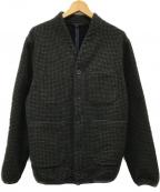 THE GIGI(ザ・ジジ)の古着「PARK ウールジャケット」|オリーブ×ブラック