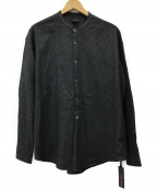 THE GIGI(ザ・ジジ)の古着「SHEDIR バンドカラープルオーバーシャツ」|ブラック