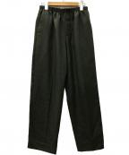 CellarDoor(セラードアー)の古着「ALFRED ジャージーシャーリングテーパードパンツ」|グリーン
