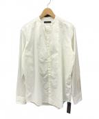 THE GIGI(ザ・ジジ)の古着「SHEDIR コットンシルク バンドカラーシャツ」|ホワイト