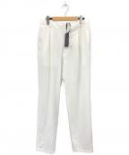 THE GIGI(ザ・ジジ)の古着「ドローコード付きワンプリーツテーパードパンツ」|ホワイト