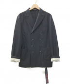 THE GIGI(ザ・ジジ)の古着「ZIGGY ウールフランネル8Bダブルジャケット」|ブラック