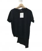 RISMAT by Y's(リスマットバイワイズ)の古着「アシンメトリーS/Sニット」 ブラック
