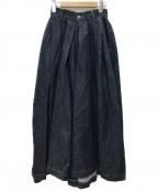 HARVESTY(ハーベスティー)の古着「デニムカルメンキュロットパンツ」 インディゴ