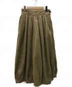 HARVESTY(ハーベスティー)の古着「コーデュロイサーカスキュロットパンツ」 ブラウン