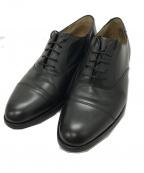 Lloyd footwear(ロイドフットウェア)の古着「ストレートキャップトゥシューズ」|ブラック