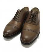 Lloyd footwear(ロイドフットウェア)の古着「ストレートキャップトゥシューズ」|ブラウン