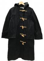 MHL(エムエイチエル)の古着「イギリス製 ワックスドコットンダッフルコート」|ブラック