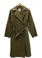 HUMAN WOMAN(ヒューマンウーマン)の古着「ハイカウントウェザートレンチコート」|ブラウン