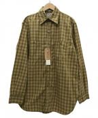 orSlow(オアスロウ)の古着「VINTAGE FIT WORK SHIRT シャツ」|KHAKI CHECK