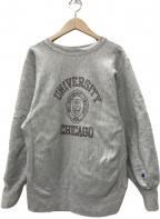 Champion(チャンピオン)の古着「90's刺繍タグ リバースウィーブカレッジロゴスウェット」|グレー