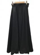 ()の古着「ウールデザインロングスカート」 ブラック