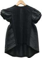 YOKO CHAN(ヨーコチャン)の古着「パフスリーブカットソー」 ブラック