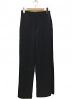 AURALEE()の古着「WOOL MAX SERGE SLACKS スラックス」|ブラック