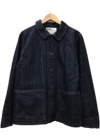 MHL(エムエイチエル)の古着「CANTON カバーオール デニムジャケット」|インディゴ