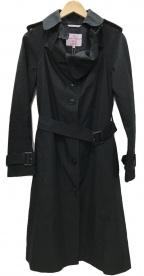 Vivienne Westwood RED LABEL(ヴィヴィアンウェストウッド レッドレーベル)の古着「裏オーブ柄 トレンチコート」|ブラック