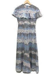 RED VALENTINO (レッドヴァレンティノ) Peony Print Dress ワンピース ブルー サイズ:38