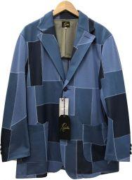 Needles (ニードルス) 21SS 2Button Jacket ポリ ジャガード ネイビー サイズ:M 未使用品