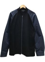 COMME des GARCONS HOMME (コムデギャルソン オム) 21SS Nylon Sleeve Bomberジャケット ネイビー×ブラック サイズ:L
