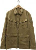 JohnUNDERCOVER()の古着「14SS カットオフミリタリージャケット」|ベージュ