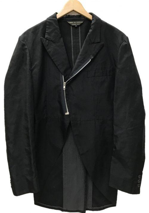 COMME des GARCONS HommePlus(コムデギャルソンオムプリュス)COMME des GARCONS HommePlus (コムデギャルソンオムプリュス) ナイロンジップ燕尾ジャケット ブラック サイズ:Mの古着・服飾アイテム