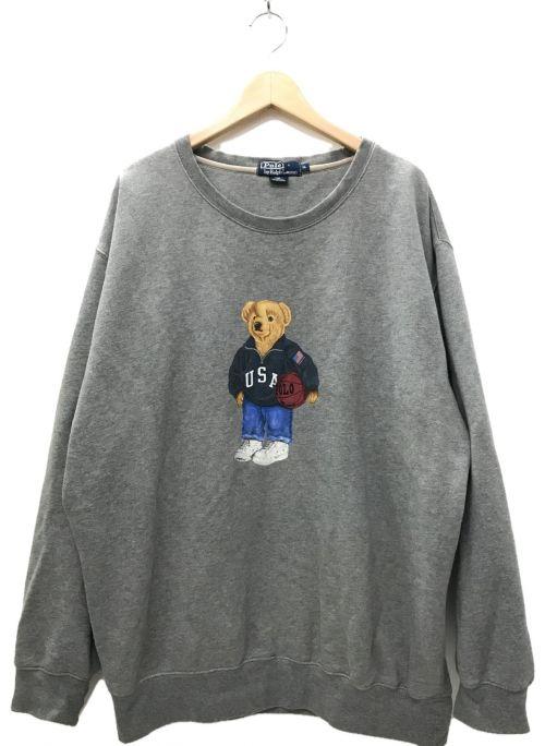 POLO RALPH LAUREN(ポロ・ラルフローレン)POLO RALPH LAUREN (ポロ・ラルフローレン) ポロベア プリントスウェット グレー サイズ:XLの古着・服飾アイテム