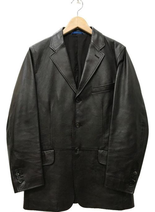 PAUL SMITH(ポールスミス)PAUL SMITH (ポールスミス) ラムレザー 3B テーラードジャケット ダークブラウン サイズ:Mの古着・服飾アイテム