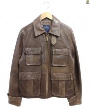Brooks Brothers(ブルックスブラザーズ)の古着「M65レザージャケット」|ブラウン