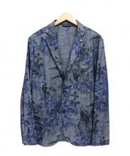 giannetta(ジャンネット)の古着「花柄アンコンジャケット」|ブルー