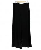 SHIZUKA KOMURO(シズカコムロ)の古着「トリアセワイドパンツ」|ブラック