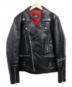 HORN WORKS(ホーンワークス)の古着「ダブルライダースジャケット」|ブラック