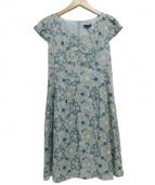 TOCCA(トッカ)の古着「フラワー刺繍ワンピース」|グリーン