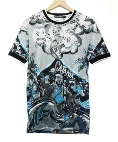 DOLCE & GABBANA(ドルチェ&ガッバーナ)の古着「音符×アート柄Tシャツ」|マルチカラー