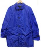 PEUTEREY(ピューテリー)の古着「ナイロンステンカラーコート」 ブルー