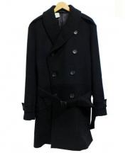 N.HOOLYWOOD(エヌハリウッド)の古着「ショールカラーPコート」 ブラック