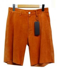 QUAI DE VALMY(ケ ドゥ ヴァルミ))の古着「レザーハーフパンツ」|オレンジ