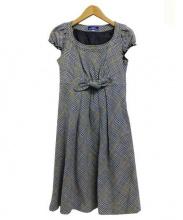 BURBERRY BLUE LABEL(バーバリーブルーレーベル)の古着「ブラウスワンピース」|グレー