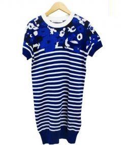 sacai luck(サカイラック)の古着「ニットワンピース」|ブルー
