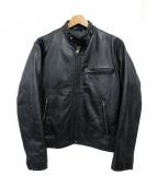 HORN WORKS(ホーンワークス)の古着「シングルレザージャケット」|ブラック