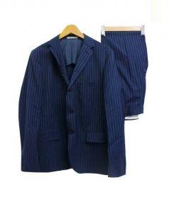 STEVEN ALAN(スティーブン アラン)の古着「ピンストライプセットアップスーツ」|ネイビー