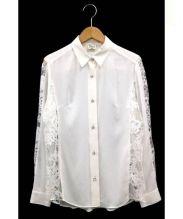 Diagram GRACE CONTINENTAL(ダイアグラムグレースコンチネンタル)の古着「レースシャツ」|ホワイト