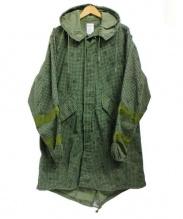 GREENBLUE(グリーンブルー)の古着「リメイクコート」 カーキ