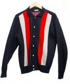 KAIKO(カイコー)の古着「ニットポロシャツ」|ネイビー