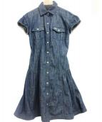 BURBERRY BLUE LABEL(ブルーレーベル・クレストブリッジ)の古着「デニムワンピース」|インディゴ