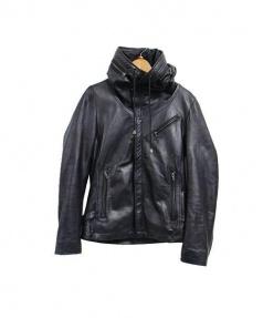 Haruf(ハルフ)の古着「シープレザージャケット」 ブラック
