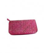 BOTTEGA VENETA(ボッテガヴェネタ)の古着「ラウンドジップ財布」|ピンク